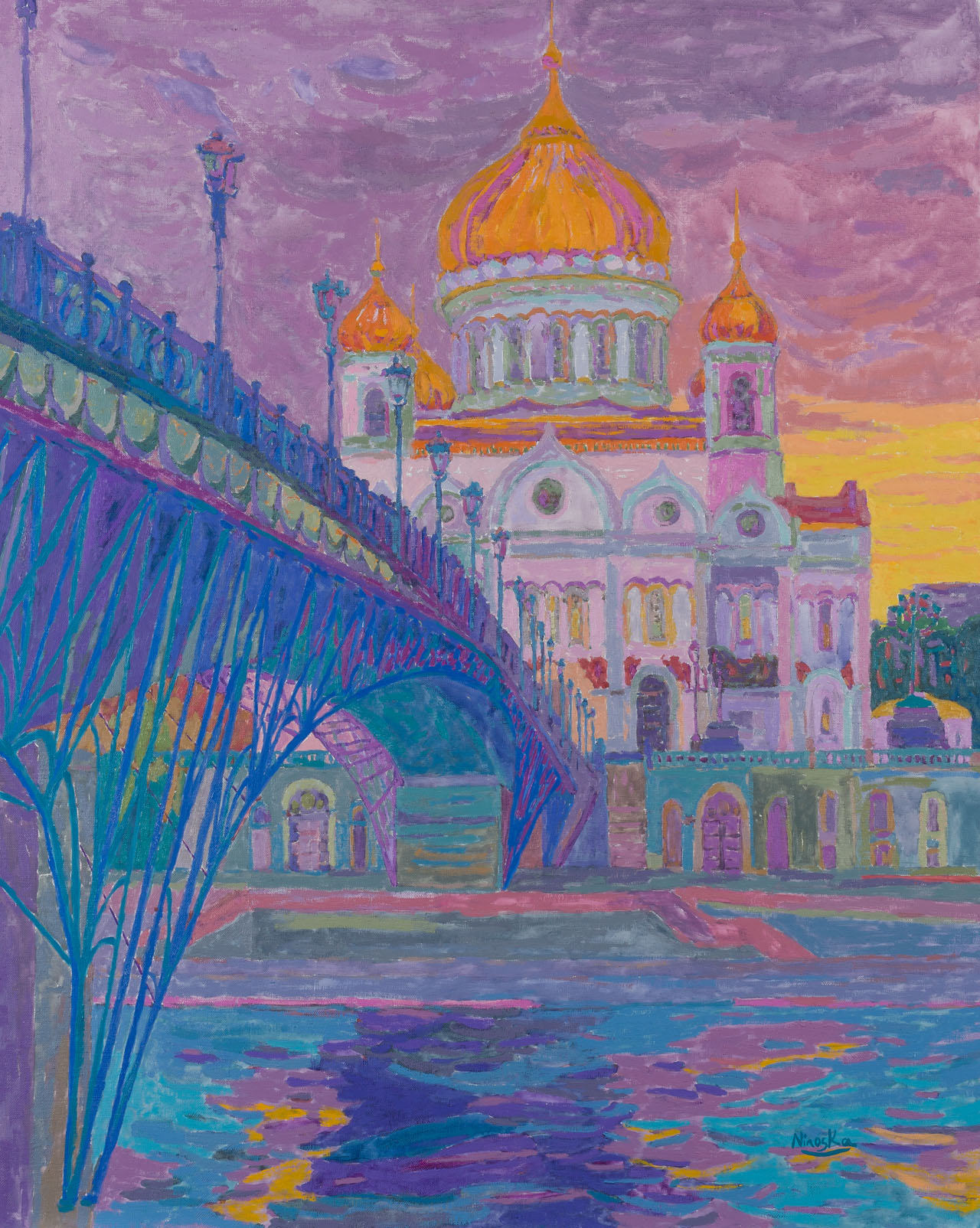 Ninoska de Gracia. Puente hacia la Iglesia de Cristo Salvador en Moscú